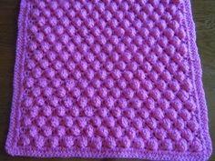 Popcorn stitch afghan crochet pattern in three sizes