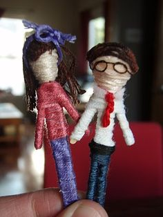 Worry dolls made of embroidery thread