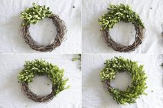 Make a boxwood wreath using fresh boxwood clippings. Perfect addition to festive holiday decor that can also be used year-round with a different ribbon. Boxwood Wreath Diy, Holly Wreath, Diy Wreath, Wreath Making, Easter Wreaths, Holiday Wreaths, Christmas Decorations, Holiday Decor, Advent Wreaths