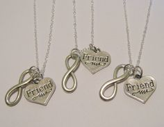 3 Infinity Best Friend Necklaces BFF on Etsy, $32.00