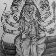 Nrsimhadeva tat.. the only image I seem to have. Will work on getting the full shot/ finished inked piece soon! | #tattoo #ink #lion #lord #Nrsimhadeva #snakes #ancient #drawing