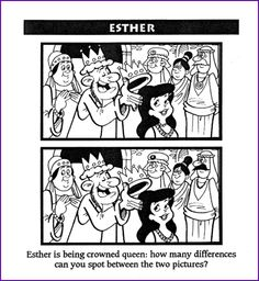 Find the Difference, 2 Pictures (Esther) – Kids Korner – BibleWise