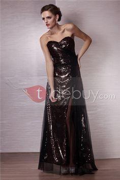 Aラインスウィートハート床までの長さエンバイアイブニングドレス