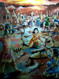 abhimanyu killed by seven heroes