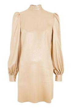 Foil High Neck Mini Dress #topshop