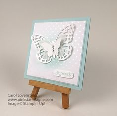 So Sweet Butterfly  (April Class 2 of 5).  What a sweet, quick as well as easy card to create.  Stampin' Up! Card Idea