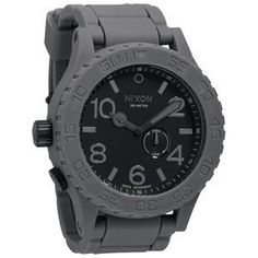 Nixon Mens A236195 Simplify Charcoal Rubber Watch *** Want additional info? Click on the image.