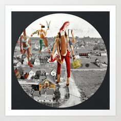 Build a Woman - Copy and Paste · Planet of Women · Crop Circle Art Print by Marko Köppe - $19.99