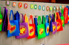 superhero party favor bags later-baby-or-if-i-ever-have-a-grandson Superhero Party Favors, Batman Party, Superhero Birthday Party, 4th Birthday Parties, Boy Birthday, Birthday Ideas, Superhero Treats, Avenger Party, Gateau Baby Shower