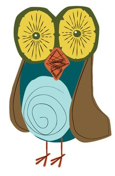 another retro owl by Runderella