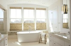 Use bamboo blinds in the bathroom to create a spa-like atmosphere
