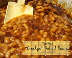 The Best Crockpot Baked Beans. I doubled the recipe and it made a lot! It was delicious for sure though! Baked Beans Crock Pot, Beans In Crockpot, Crock Pot Food, Crock Pot Slow Cooker, Slow Cooker Recipes, Crockpot Recipes, Cooking Recipes, Cooking Ideas, Crock Pots