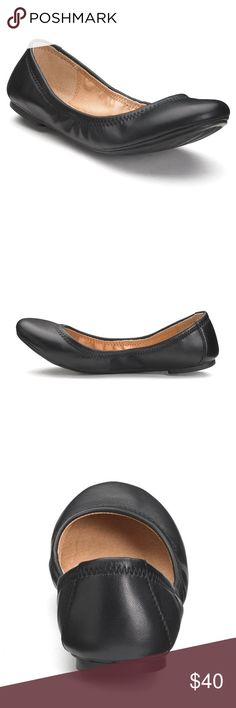Black Leather Ballet Flats Size 11 Cute black genuine leather ballet flats with a comfy padded footbed. Worn 2-3 times, in excellent, near new condition! True to fit size 11. No trades, thank you. Shoes