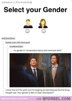 Select Your Winchester Gender…