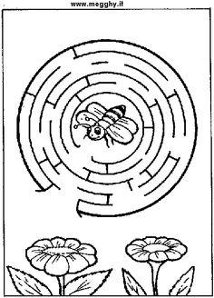 Mandala primavera Printable Mazes, Free Printables, Spelling Bee, Bee Happy, Free Design, Kindergarten, Bugs, Worksheets, Paper Crafts