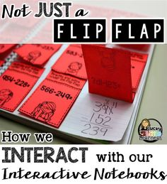Interactive Notebooks are all the rage right now but sometimes they are referred to an art project or glorified worksheet. Read this post to find out why these statements are so far from the truth! How to Interact with your Interactive Notebooks- a gues Interactive Student Notebooks, Math Notebooks, Reading Notebooks, Second Grade Math, 4th Grade Math, Math Resources, Math Activities, Teaching Math, Maths