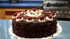 Рецепт Торта Пьяная вишня с Видео и Фото. Бабушка Эмма, с удовольствием, делится рецептом, настоящего очень вкусного и популярного торта Пьяная Вишня