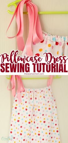 Love beginner sewing projects for kids? This ultimate pillowcase dress is the perfect project! Here's how to make an easy to sew, cute and comfy DIY pillowcase dress! #easypeasycreativeideas #sewingforkids Beginner Sewing Patterns, Sewing Patterns For Kids, Sewing Projects For Beginners, Sewing For Kids, Sewing Tips, Sewing Tutorials, Love Sewing, Wonderful Things, Quilting