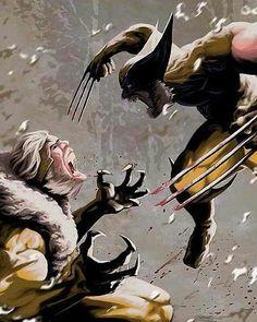 @marvel_archives 9#Wolverine vs #Sabertooth | #Xmen #Marvel #MarvelComics #Avengers