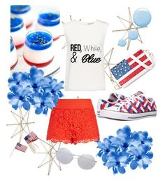 """4th of July - Contest"" by afatrustamova on Polyvore featuring Uttermost, Finders Keepers, Converse, City Chic, Sur La Table, Chicnova Fashion, Linda Farrow, Topshop, redwhiteandblue and july4th"