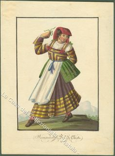 Chieti Folk Costume, Costumes, Folklore, Traditional Outfits, Fashion Art, Nostalgia, Painting, Fictional Characters, Inspiration