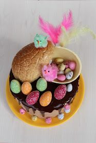 mona pascua Chocolate Blanco, Breakfast, Quail Eggs, Happy Easter, Colorful Flowers, Pies, Morning Breakfast