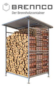 Die perfekte Lösung aus Stahl, handgeschweißt und feuerverzinkt. Endlos erweiterbar durch Modulbauweise. Firewood, Container, Galvanized Steel Sheet, Types Of Construction, Home And Garden, Fire, Wood Fuel, Canisters