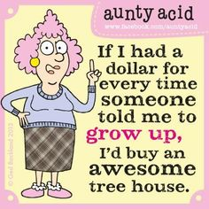 Don't  forget to check out your #FREE brand spanking NEW Aunty Acid GoComics today, http://www.gocomics.com/aunty-acid