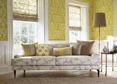 Harlequin Folia / Harlequin / Tapety kolekcje - Podstrona 1 z 1 Guest Bedroom Office, Inspire Me Home Decor, Interior Decorating, Interior Design, Home Decor Fabric, Home Decor Inspiration, Blinds, Harlequin Fabrics, Yellow Theme