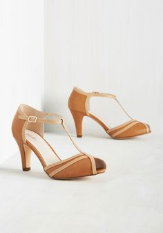 910fd698c99 Earn Your Peep T-Strap Heel in Caramel. With their vintage-inspired vibe
