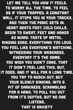 Anxiety, Panic Attacks, Depression, Mental Health quotes