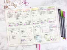 I've got do do this for my weeklies!  Except:  make room at top for title (where I am that week) and use lunch/snack spot for writing what I had for lunch.