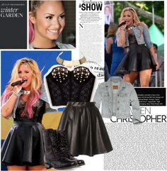 """""""Demi Lovato Outfit"""" by annabeaa ❤ liked on Polyvore"""