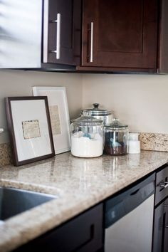 Frame old recipes for the kitchen, bonus if it's handwritten by grandma or mom..love this idea!!