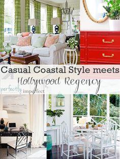 the beach house: casual coastal meets hollywood regency