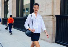 Street Style: Vasilisa Pavlova's Classic Look