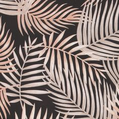 Duschdraperi mörk m beige palmblad