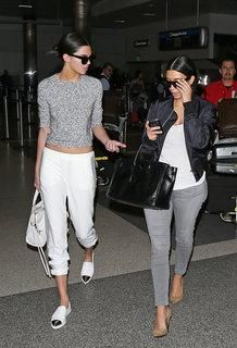 """Kendall Jenner and Kim Kardashian rock """"all in the family"""" brunch style"""