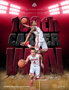 CONGRATS. ON ACHIEVING THEIR 100TH CAREER WIN LENZELLE SMITH JR. #32 AND AARON CRAFT #4-BY SAMUEL SILVERMAN.