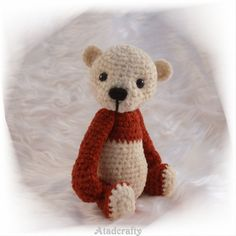 Thread Artist Miniature Bear Georgie by Atadcrafty on Etsy, $30.00