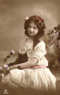 .Stunning Girl Cat Portrait Rotophot Photo Tinted Edwardian RPPC | eBay.