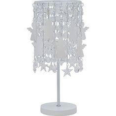Luminária de mesa com Anjinhos e estrelas de cristal, da marca Carambola. #angels #anjos