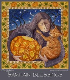 Art by Wendy Andrew-Samhain Blessings Samhain Festival, Spooky Pictures, Samhain Halloween, Halloween Ideas, Happy Halloween, The Hallow, Magical Images, Macabre Art, Triple Goddess