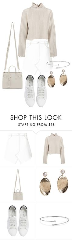 """""""Untitled #23577"""" by florencia95 ❤ liked on Polyvore featuring Dion Lee, Golden Goose, Yves Saint Laurent, MANGO, Prada and Elsa Peretti"""