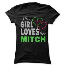 (Top Tshirt Fashion) This Girl Love Her MITCH 99 Cool Name Shirt [Teeshirt 2016] Hoodies, Funny Tee Shirts