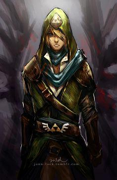 Assassin Link, The Legend of Zelda artwork by Jon Lock.