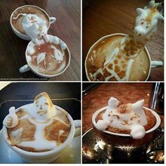 Incredible latte art with animals, celebrities, and yes, Hello Kitty.