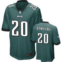 Brian Dawkins Green Nike Game NFL Philadelphia Eagles Jersey