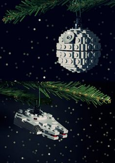 DIY Star War and Traditional LEGO Ornaments by  Chris McVeigh. Chris McVeigh also has an Etsy Store, but it everything seems to be sold out for the time being. *I just looked at the PDF Instructions and they are amazing - they are almost better than the ones provided by LEGO!  #diy #crafts #legos #christmas #holidays #star wars #death_star #ornaments #LEGO #toys