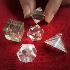 Sacred Geometry Quartz Set The Sacred Shapes of by TheSageGoddess